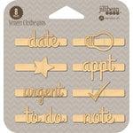 Jillibean Soup - Wood Veneer Clothespins - Date