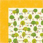 Jillibean Soup - Mushroom Medley Collection - 12 x 12 Double Sided Paper - Chanterelles