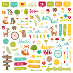 Jillibean Soup - Mushroom Medley Collection - Pea Pod Parts - Die Cut Cardstock Pieces - Shapes