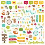 Jillibean Soup - Mushroom Medley Collection - Pea Pod Parts - Die Cut Cardstock Pieces - Shapes