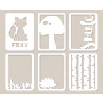 Jillibean Soup - Mushroom Medley Collection - Mini Place Mats - 3 x 4 Die Cut Cards