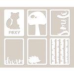 Jillibean Soup - Mushroom Medley Collection - Mini Place Mats - 3 x 4 Die Cut Cards