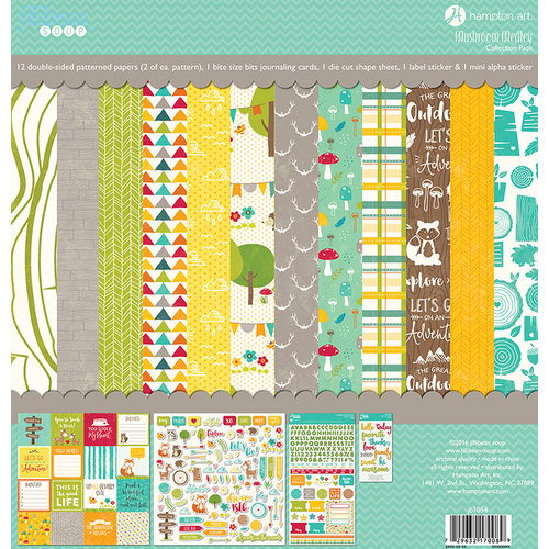Jillibean Soup - Mushroom Medley Collection - 12 x 12 Collection Pack