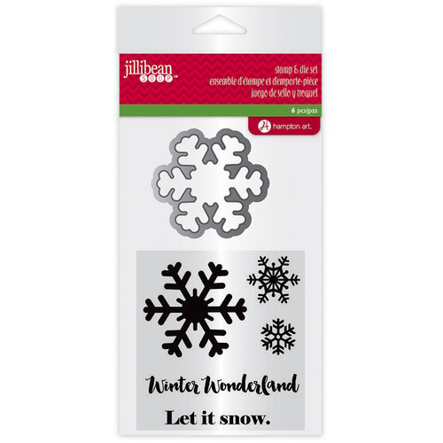 Jillibean Soup - Holiday Collection - Christmas - Die and Clear Acrylic Stamp Set - Winter Wonderland