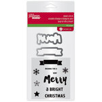 Jillibean Soup - Holiday Collection - Christmas - Die and Clear Acrylic Stamp Set - Merry