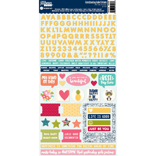 Jillibean Soup - Chit Chat Chowder Collection - Cardstock Stickers