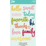 Jillibean Soup - Chit Chat Chowder Collection - Cardstock Stickers - Soup Labels - Words