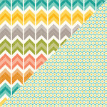Jillibean Soup - Hardy Hodgepodge Collection - 12 x 12 Double Sided Paper - Cup of Chevron
