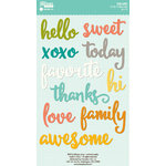 Jillibean Soup - Hardy Hodgepodge Collection - Cardstock Stickers - Soup Labels - Words