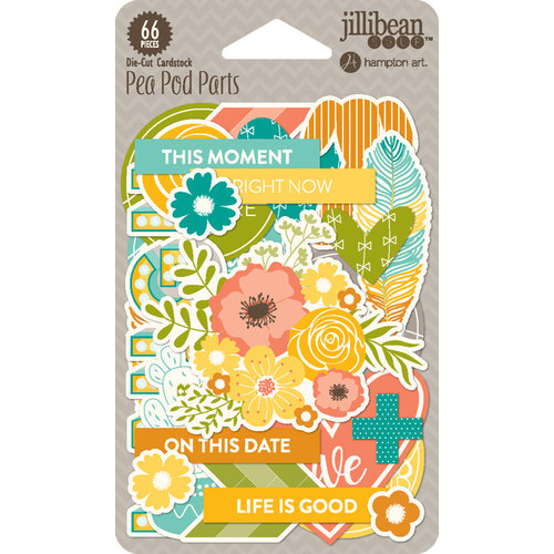 Jillibean Soup - Hardy Hodgepodge Collection - Pea Pod Parts - Die Cut Cardstock Pieces