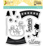 Jillibean Soup - Christmas - Clear Acrylic Stamps - Shape Shakers - Snow Globe
