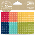 Jillibean Soup - Day 2 Day Collection - Cardstock Stickers - Numbers