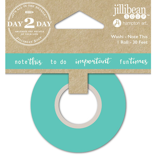 Jillibean Soup - Day 2 Day Collection - Washi Tape - Note This