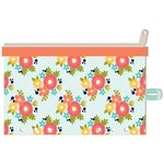 Jillibean Soup - Day 2 Day Collection - Zipper Pouch - Orange Floral