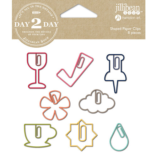 Jillibean Soup - Day 2 Day Collection - Paper Clips - Wine
