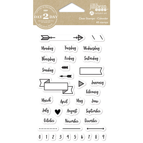 Jillibean Soup - Day 2 Day Collection - Clear Acrylic Stamps - Calendar