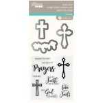 Jillibean Soup - Die and Clear Acrylic Stamp Set - Prayers