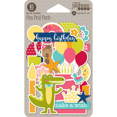 Jillibean Soup - Souper Celebration Collection - Pea Pod Parts - Die Cut Cardstock Pieces