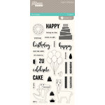 Jillibean Soup - Souper Celebration Collection - Clear Acrylic Stamps - Large
