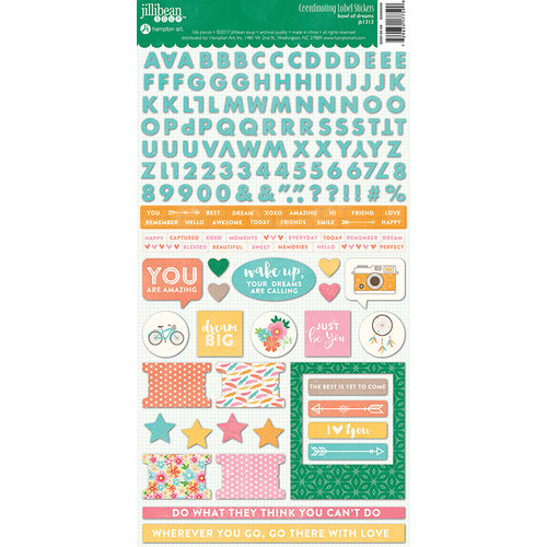 Jillibean Soup - Bowl of Dreams Collection - Cardstock Stickers