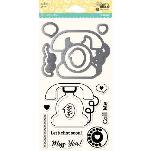 Jillibean Soup - Shaker Die and Clear Acrylic Stamp Set - Call Me