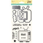 Jillibean Soup - Shaker Die and Clear Acrylic Stamp Set - Super Star