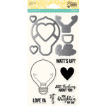 Jillibean Soup - Shaker Die and Clear Acrylic Stamp Set - Watts Up
