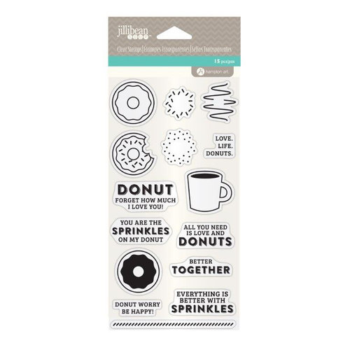 Jillibean Soup - Clear Acrylic Stamps - Coffee and Donuts