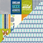 Jillibean Soup - 2 Cool for School Collection - 12 x 12 Double-Sided Paper - Bite Size Bits