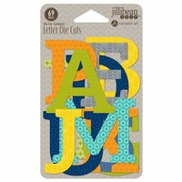 Jillibean Soup - 2 Cool for School Collection - Die Cut Cardstock Pieces - Letters