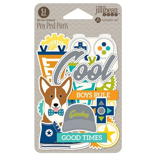 Jillibean Soup - 2 Cool for School Collection - Pea Pod Parts - Die Cut Cardstock Pieces