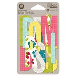 Jillibean Soup - Bohemian Brew Collection - Die Cut Cardstock Pieces - Letters