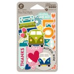 Jillibean Soup - Bohemian Brew Collection - Pea Pod Parts - Die Cut Cardstock Pieces