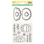 Jillibean Soup - Shaker Die and Clear Acrylic Stamp Set - Succulents