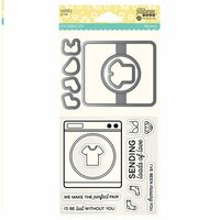 Jillibean Soup - Shaker Die and Clear Acrylic Stamp Set - Laundry
