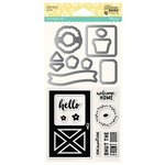 Jillibean Soup - Shaker Die and Clear Acrylic Stamp Set - Barn Door