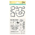 Jillibean Soup - Shaker Die and Clear Acrylic Stamp Set - Octopus