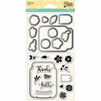 Jillibean Soup - Shaker Die and Clear Acrylic Stamp Set - Mason Jar