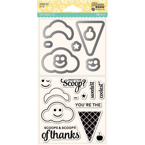 Jillibean Soup - Shaker Die and Clear Acrylic Stamp Set - Ice Cream