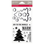 Jillibean Soup - Christmas - Shaker Die and Clear Acrylic Stamp Set - Winter Wishes