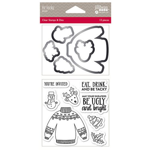 Jillibean Soup - Christmas - Shaker Die and Clear Acrylic Stamp Set - Be Tacky