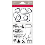 Jillibean Soup - Christmas - Shaker Die and Clear Acrylic Stamp Set - Be Merry