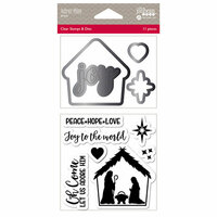 Jillibean Soup - Christmas - Shaker Die and Clear Acrylic Stamp Set - Adore Him