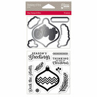 Jillibean Soup - Christmas - Shaker Die and Clear Acrylic Stamp Set - Thinking Of You