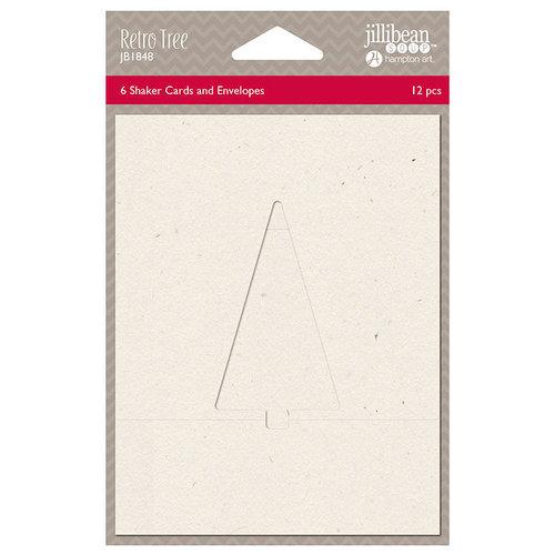 Jillibean Soup - Christmas - Shaker Card - Retro Tree