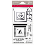 Jillibean Soup - Christmas - Shaker Die and Clear Acrylic Stamp Set - Cozy Christmas
