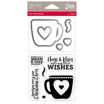 Jillibean Soup - Christmas - Shaker Die and Clear Acrylic Stamp Set - Hugs and Kisses