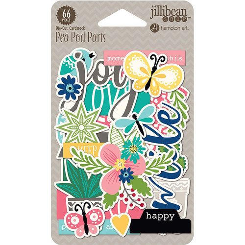Jillibean Soup - You Make Miso Happy Collection - Pea Pod Parts - Die Cut Cardstock Pieces