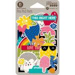 Jillibean Soup - Rainbow Roux Collection - Pea Pod Parts - Die Cut Cardstock Pieces