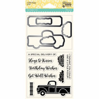 Jillibean Soup - Shaker Die and Clear Acrylic Stamp Set - A Little Pickup